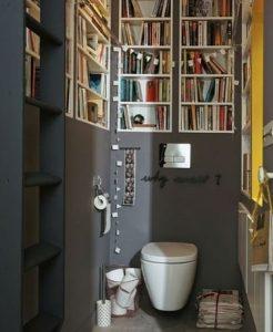 Bibliothèque toilette