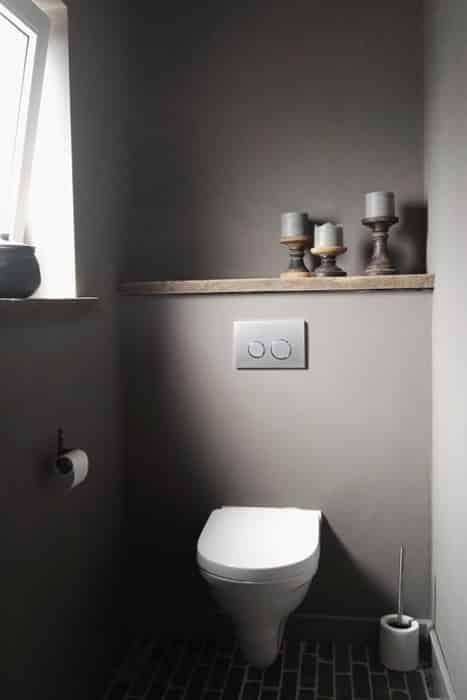 Déco toilette gris