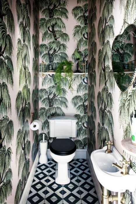 Déco toilette jungle