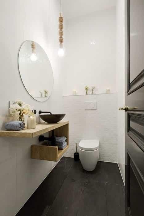 Déco toilette nordique