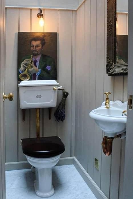 Déco toilette vintage