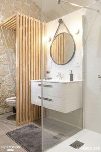 Délimiter les espaces toilettes et salle de bains