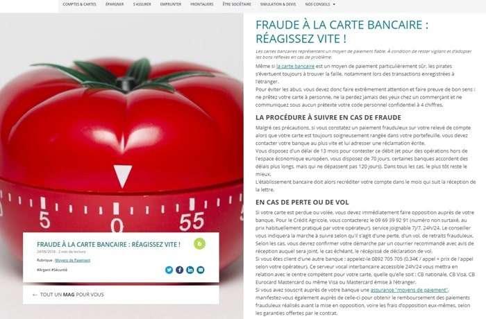Fraude compte Crédit Agricole