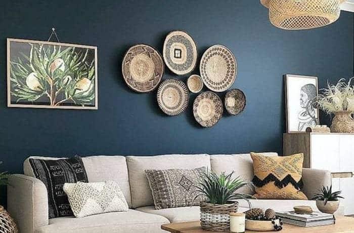 Peinture salon - Le bleu