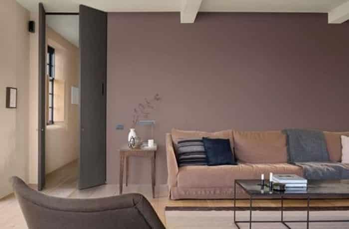 Peinture salon - Le brun