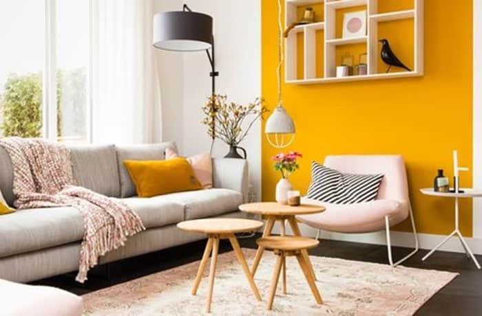 Peinture salon - Le jaune et l'orange