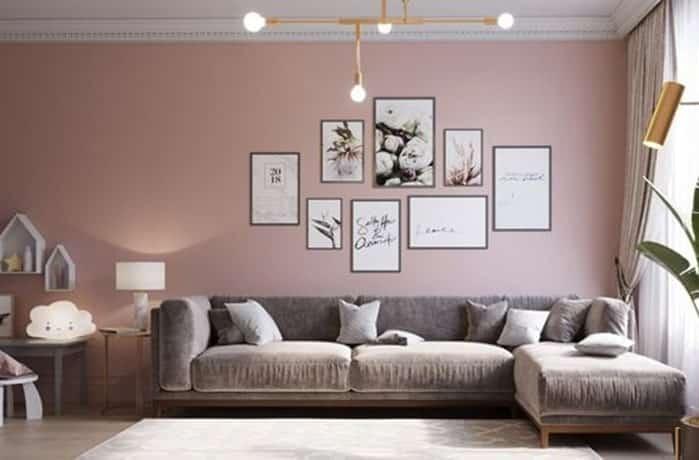 Peinture salon - Le rose