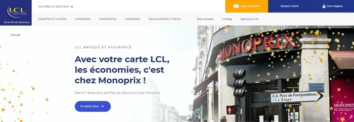 Site LCL Particuliers