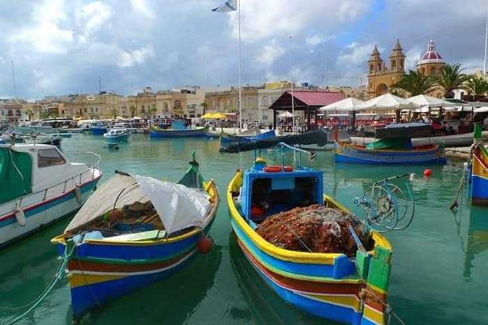 Marsaxlokk, village de pêcheurs