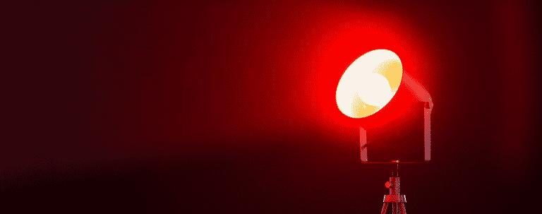 veilleuse lumière rouge